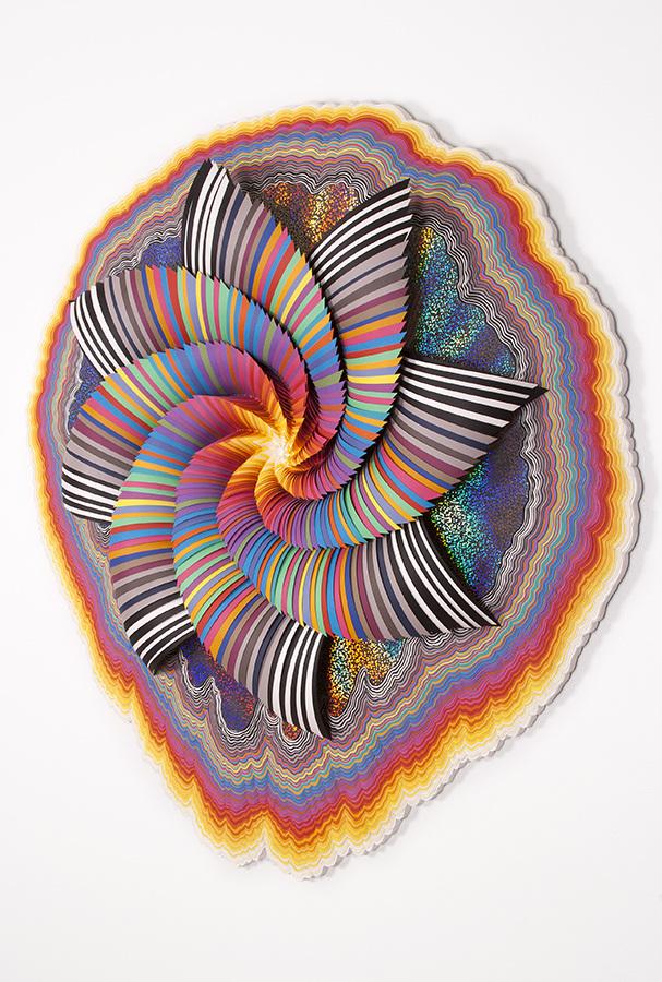 opera di Jen Stark - arte psichedelica